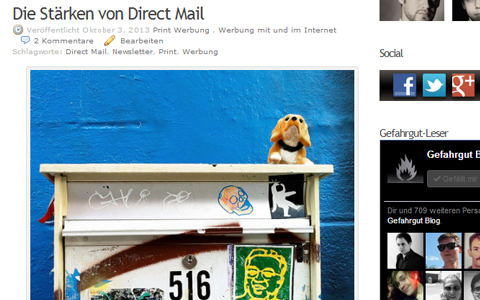 Artikel über Direct Mail